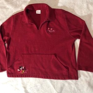 "Disney Pullover V neck  ""Frosted Frolic"" Sz XL"